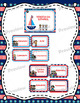 Schedule Cards Nautical Theme Bilingual