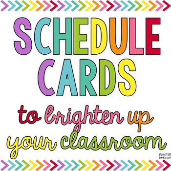 Schedule Cards [OVER 60 CHOICES]
