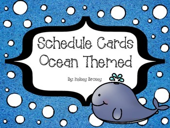 Schedule Cards - Ocean Theme