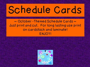 Labels - Schedule Cards ~ October Theme