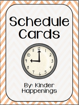 Editable Schedule Cards- Orange Chevron