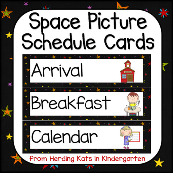 Schedule Cards: Outer Space Decor