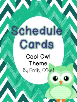 Schedule Cards (Owl Theme)