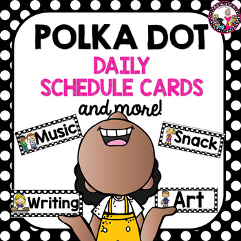 Schedule Cards POLKA DOTS Plus Time Cards!