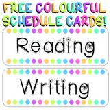 Schedule Cards - Pastel Rainbow