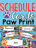 Schedule Cards Paw Prints Theme