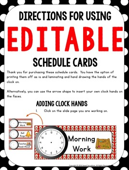 Schedule Cards (Pirate Theme)