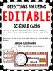 Schedule Cards (Pirate Theme)