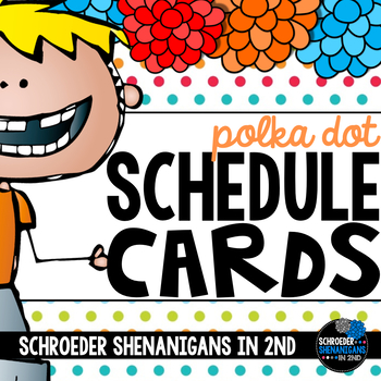 Schedule Cards Polka Dots