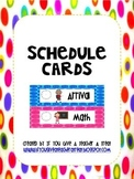 Schedule Cards- Polka Dots