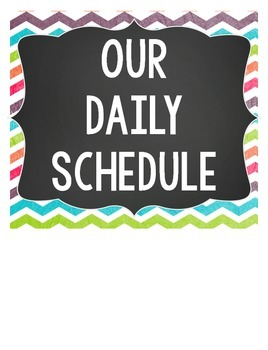 Schedule Cards {Polka Dots, Stripes, & Chevron}