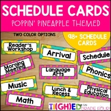 Schedule Cards {Poppin' Pineapple Bright and Tropical Themed}