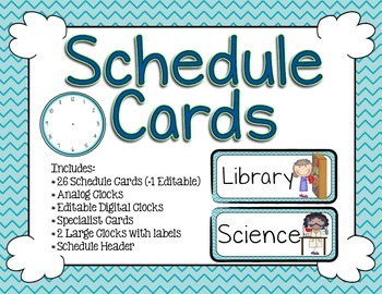 Schedule Cards - Print Exotic Sea Chevron