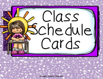 Schedule Cards - Purple Glitzy (incl. editable items)