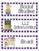 Schedule Cards/ Purple Version