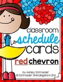 Schedule Cards RED CHEVRON