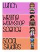 Schedule Cards - Rainbow Burlap
