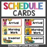 Schedule Cards Rainbow Splashes