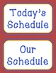 Schedule Cards - Red Polka Dots, Primary Colors