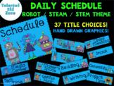 Schedule Cards Robot /STEAM / STEM Theme