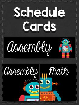 Schedule Cards: Robots