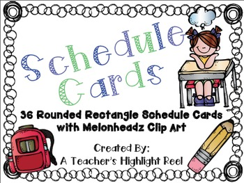 Schedule Cards - Rounded Rectangle
