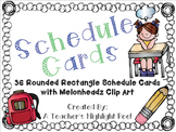 Schedule Cards - Rounded Rectangle Chalkboards