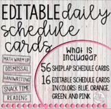 Schedule Cards (Rustic & Shiplap)