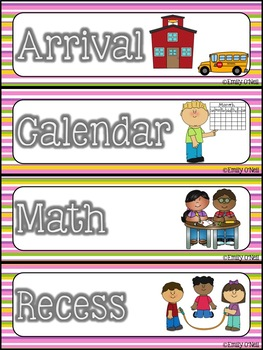 Schedule Cards (STEM-sational Theme)
