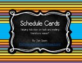 Schedule Cards (Safari Theme)