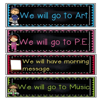 Schedule Cards!  Sentence form! Pre-k-2!