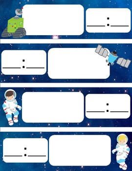 Daily Schedule Cards-Space Themed DIGITAL