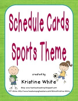 Schedule Cards Sports Theme