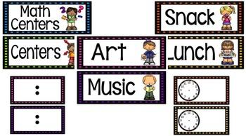Schedule Cards- Spotlight Theme