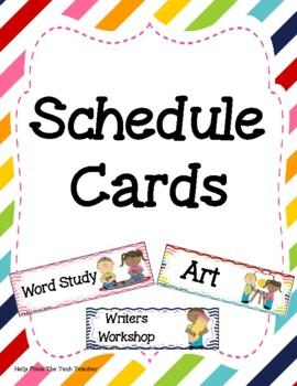 Schedule Cards Stripe