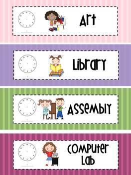 Schedule Cards- Stripes