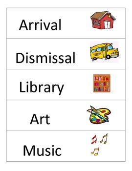 Schedule Cards (Subjects and Transportation)
