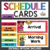 Schedule Cards Rainbow
