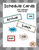 Schedule Cards - Superhero Themed (Editable Template Included)