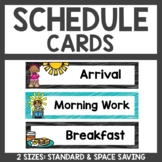Schedule Cards Teal and Black Classroom Decor