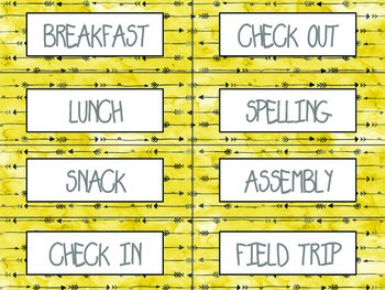 schedule cards tribal print arrow theme by behavioral momentum