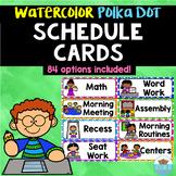 Visual Schedule Cards Watercolor Polka Dots