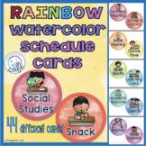 Schedule Cards: Watercolor Rainbow!