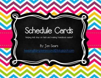 Schedule Cards (Bright)