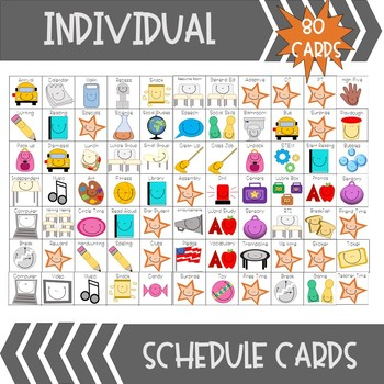 Schedule Cards (Whole Group + Individual) BUNDLE