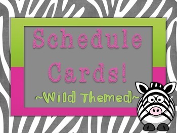 Schedule Cards - Wild Themed