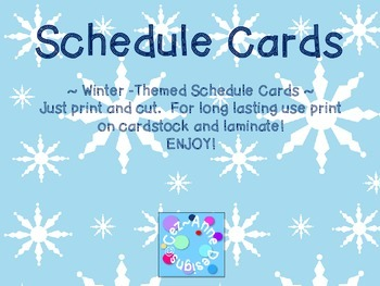 Labels - Schedule Cards ~ Winter Theme