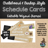 Schedule Cards - Wizard Themed & Editable