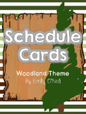 Schedule Cards (Woodland Theme)