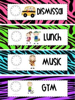 Schedule Cards- Zebra Print